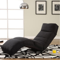 LifeStyle Solutions - Chaise Lounge - The Jet Curved Lounge Chair is a stylish and comfortable chair that will soon be the loved centerpiece of your living room. This cool and contemporary chair is also great for a kid's room, dorm room, game room, or almost any other room in your home. It features microfiber upholstery and converts from chair to a recliner, to a flat position in seconds. Features: -Microfiber upholstery.-Jet Curved.-Converts from chair to recliner to flat position in seconds.-Great for almost any room in your home.-Distressed: No.-Weight Capacity: 275 lbs.Dimensions: -Overall Dimensions: 32'' H x 23'' W x 71'' D.-Overall Product Weight: 14.3 lbs.