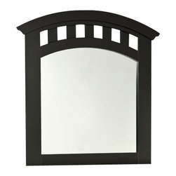 Standard Furniture - Standard Furniture Free2B Kids' Arched Mirror in Black - Practice math, play tic-tac-toe or let the artistic flair come out with our free 2B youth bedroom. Featuring specially formulated dry erase marker board wrapped surfaces.