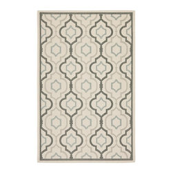 Safavieh - Safavieh Courtyard Rug with Beige / Dark Beige X-5-81A97-8397YC - Safavieh takes classic beauty outside of the home with the launch of their Courtyard Collection. Made in Turkey with enhanced polypropylene for extra durability, these rugs are suitable for anywhere inside or outside of the house.