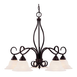 Karyl Pierce Paxton - Karyl Pierce Paxton KP-101-5-13 Oxford Transitional 5-Light Chandelier - A dramatic, bold design which elegantly complements any interior.