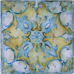 JMD Collection ~ Malacca 2 - JMD Collection handpainted wood tiles add a grace and artistry rarely found today. Used as stair risers, wainscoting or floor medallion these tile add a work of art to your home.