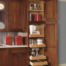Decora Utility with Roll Trays - Roll trays independently extend for easy access to contents.