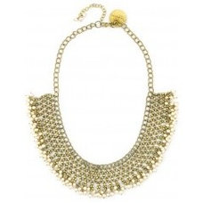 Beaded metal gold necklace available only at Pernia's Pop-Up Shop.