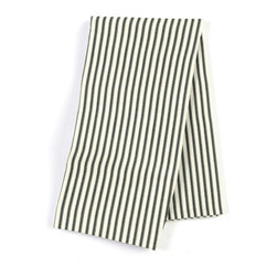 Black Ticking Stripe Custom Napkin Set - Our Custom Napkins are sure to round out the perfect table setting'whether you're looking to liven up the kitchen or wow your next dinner party. We love it in this classic traditional cotton ticking stripe in black & white.