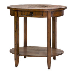 Lane Wood Side Table - Beautifully distressed in a Provincial finish, the Lane wood side table is a wonderful additional to complement any style decor.