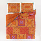 Piazza Quilt - This quilt set reminds me of textiles from Marrakesh: rich in color, full of detail and with a handmade quality.