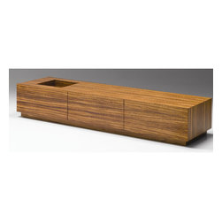 """Mobital - Kona Coffee Table - The Kona Rectangular Coffee Table is a study in simplicity. The square cut out on the top provides a cool area for display such as a bonsai plant or sand garden. Features: -Two hidden drawers.-Collection: Kona.-Distressed: No.-Powder Coated Finish: No.-Gloss Finish: No.-Wrought Iron: No.-Top Material: Manufactured Wood.-Base Material: Manufactured Wood.-Solid Wood Construction: No.-Reclaimed Wood: No.-Non-Toxic: Yes.-UV Resistant: Yes.-Weather Resistant: No.-Scratch Resistant: No.-Stain Resistant: No.-Moisture Resistant: No.-Design: Cube.-Drop Leaf: No.-Shape: Rectangular.-Lift Top: No.-Tray Top: No.-Storage Under Tabletop: No.-Folding: No.-Hand Painted: No.-Magazine Rack: No.-Built In Clock: No.-Powered: No.-Nested Stools Included: No.-Legs Included: No.-Casters: No.-Exterior Shelves: No.-Cabinets Included: No.-Drawers Included: Yes -Number of Drawers: 2.-Ball Bearing Glides: Yes.-Soft Close Drawer Glides: No.-Safety Stop : Yes..-Corner Block: Yes.-Cable Management: No.-Adjustable Height: No.-Glass Component: No.-Upholstered: No.-Outdoor Use: No.-Weight Capacity: 250 lbs.-Swatch Available: No.-Commercial Use: Yes.-Recycled Content: No.-Eco-Friendly: Yes.-Product Care: Damp cloth mild detergent.Specifications: -FSC Certified: No.-EPP Compliant: No.-ISTA 3A Certified: Yes.-ISTA 1A Certified: Yes.-CARB Certified: Yes.-General Conformity Certified: Yes.-ISO 9000 Certified: Yes.Dimensions: -Overall Height - Top to Bottom: 13"""".-Overall Width - Side to Side: 71"""".-Overall Depth - Front to Back: 20"""".-Table Top Width - Side to Side: 71"""".-Table Top Depth - Front to Back: 20"""".-Drawers: -Drawer Interior Height - Top to Bottom: 7"""".-Drawer Interior Width - Side to Side: 21"""".-Drawer Interior Depth - Front to Back: 17""""..-Overall Product Weight: 167 lbs.Assembly: -Assembly Required: No.-Additional Parts Required: No.Warranty: -Product Warranty: One year against manufacturer defects."""