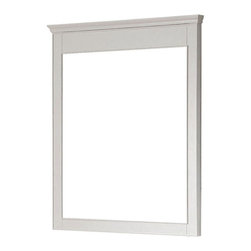 Avanity - Avanity Mirrors Windsor 36 in. L x 30 in. W Wall Mirror in White WINDSOR-M30-WT - Shop for Decor at The Home Depot. The Windsor 36 in. x 30 in. Poplar framed mirror features a white finish with simple lines. It matches the Windsor vanities for a coordinated look and includes mounting hardware that makes leveling easy. The mirror can be hanged vertically. Color: White.