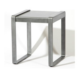 Studio A - Studio A Aalto Side Table - Studio A's Aalto Collection brings refinement to the contemporary industrial look. The powder-coated finish lends added durability to the tables. Available in Antique Zinc and Antique Brass finishes.