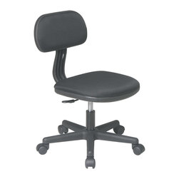 Office Star - Office Star Task Chair in Pink Fabric - Features: