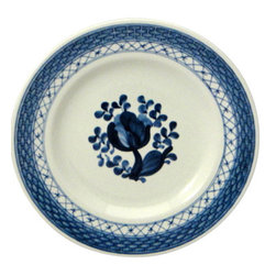 Royal Copenhagen - Royal Copenhagen Tranquebar-Blue Bread & Butter Plate - Royal Copenhagen Tranquebar-Blue Bread & Butter Plate