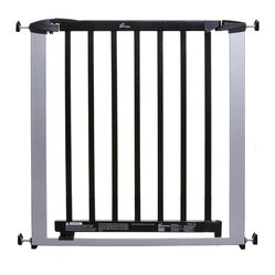 Dreambaby Windsor Gate, Silver with Dark Wood