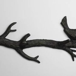 Cyan Design - Bird Branch Coat Hook - Bird branch coat hook - canyon bronze