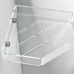 Toscanaluce - Plexiglass Corner Shower Soap Holder - Contemporary, decorative wall mounted bathroom corner shower soap basket. Stylish corner shower soap holder is made out of plexiglass. Plexiglass is available in 8 colors. Stylish shower shampoo or soap basket for the bathroom. Made in Italy by Toscanaluce. Unique, contemporary wall mount corner shower soap or shampoo basket. Stylish corner shower basket made out of plexiglass in 8 beautiful colors. Decorative corner shower soap holder for bathroom. Corner shower basket mounts easily to wall with screws. From the Toscanaluce Corner Collection.