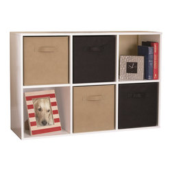 Ameriwood - Ameriwood 6-Cube Storage in White Stipple - Ameriwood - Storage Units - 7641015P - This 6 Cube Storage unit is a perfect solution for a variety of storage needs.