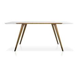 Inmod - Eco-Natura Fredrik Dining Table - Dine in clean, Scandinavianinspired style without worrying about harmful toxins infusing your home with the stylish yet environmentfriendly EcoNatura Fredrik Dining Table.