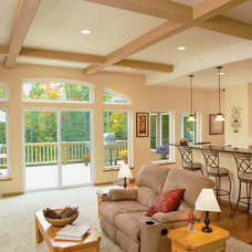 Traditional Family Room by Kolbe Windows & Doors