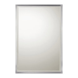 Capital Lighting - Capital Lighting M382656 Brushed Nickel Rectangular Beveled Mirror - Capital Lighting M382656 Brushed Nickel Rectangular Beveled Mirror