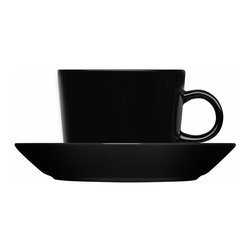 Iittala - Teema Saucer Only, Black - A cup and saucer instantly upgrade any coffee or tea sipping experience. This modern take on the classic tradition is the perfect addition to any dining table. And when you're finished sipping, simply place these in the dishwasher for easy cleanup.