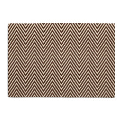 Brown Knit Chevron Custom Placemat Set - Is your table looking sad and lonely? Give it a boost with at set of Simple Placemats. Customizable in hundreds of fabrics, you're sure to find the perfect set for daily dining or that fancy shindig. We love it in this brown & ivory chunky handwoven chevron cotton knit. perfect for adding luxurious texture & modern flare to any room.