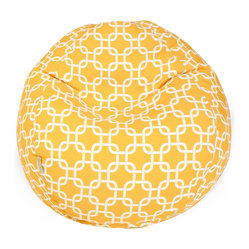Outdoor Yellow Links Small Bean Bag