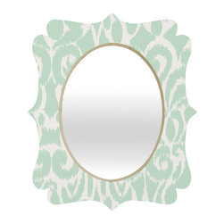DENY Designs - Khristian A Howell Eloise Quatrefoil Mirror - Mirror, mirror on the wall. Who's the fairest one of all? We'll that's easy, the quatrefoil mirror collection, of course! With a sleek mix of baltic birch ply trim that's unique to each piece and a glossy aluminum frame, the rectangular mirror makes you feel oh so pretty every time you catch a glimpse. Custom made in the USA for every order.