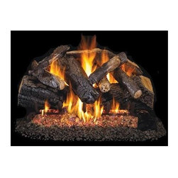 RH Peterson Gas Logs - RH Peterson Charred Series Majestic Oak Gas Logs (30-inch) - Choose Size: 30-inch. Large full logs. Log Size: 18 inches. Burners not included. Compatible with G4 & G45 burners. Uses natural or propane gas. Vented gas log. Made of refractory ceramic. Lifetime warranty