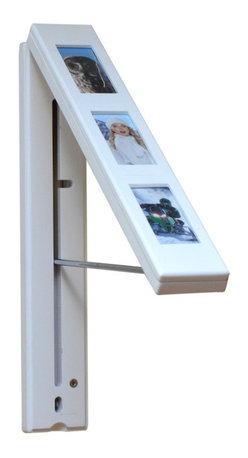 """InstaHANGER Products - InstaHANGER Picture Perfect White - Make multitasking beautiful with this smart InstaHANGER, a pop-up """"closet"""" you can hang on the wall. Transform any space into a storage area to de-clutter bedrooms, entryways and laundry rooms with instant ease. Best of all, it doubles as a frame where you can display your favorite memories even when it's not in use."""