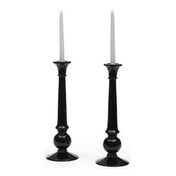 Shine Candlesticks - The vignette of Shine Candlesticks can be summed up in one word that is classic. These glass made exquisite candlesticks are very functional and will not lose their color and shine.