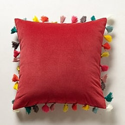 Anthropologie - Firenze Velvet Tassel Pillow - *Back zip