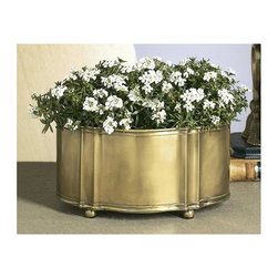 Dessau Home - Planter in Antique Brass - Set of 4 - Set of 4. Made from brass. Made in India. 13 in. W x 7 in. H