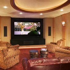 Contemporary Home Theater by Gabberts Design Studio