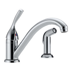 Delta Single Handle Kitchen Faucet with Spray - 175-DST - The Classic kitchen offering provides a practical, hardworking solution that will stand the test of time, every time.