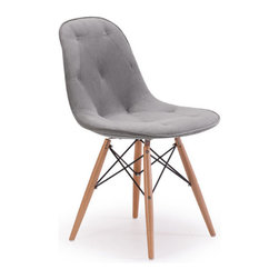 ZUO - Probability Chair Velour - Gray Velour - The Probability Chair is a sweet velour seat. Modern meets mod in the shape and metal crossing at the legs. Comes in gray, green, purple or orange velour.
