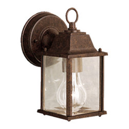 Kichler Lighting - Kichler Lighting 9794TZ Outdoor Wall 1 Light - This 1 light wall lantern from the Barrie collection is a perfect outdoor embellishment with classic and sophisticated details. Made from cast aluminum, this outdoor light is able to withstand the elements and features a beautiful Tannery Bronze™ finish with clear beveled glass panels.