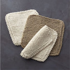 Toockies® Cleaning Cloths Set of 3 - I love the texture of these organic cotton and natural jute cleaning cloths, which are hand knit by artisans from a small village in India.