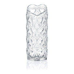 Lalique - Lalique Amour Vase Clear - Lalique Amour Vase Clear 1252300  -  Size: 2.04 Inches Long x 6.1 Inches Tall  -  Genuine Lalique Crystal  -  Fully Authorized U.S. Lalique Crystal Dealer  -  Created by the Lost Wax Technique  -  No Two Lalique Pieces Are Exactly the Same  -  Brand New in the Original Lalique Box  -  Every Lalique Piece is Signed by Hand, a Sign of its Authenticity and Quality  -  Created in Wingen on Moder-France  -  Lalique Crystal UPC Number: 090592125236