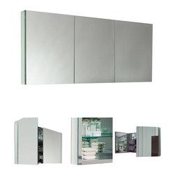 Fresca - Fresca FMC8019 60 Inches Wide Bathroom Medicine Cabinet With Mirrors - Fresca FMC8019 60 Inches Wide Bathroom Medicine Cabinet With Mirrors