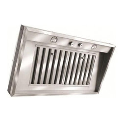 "Vent-A-Hood - M46SLD SS M Series 46 3/8"" Wall Liner  50W Halogen Lights  Industrial Grade SS B - You dont have to sacrifice style to enjoy Vent-A-Hoods superior technology Our engineers are as committed to contemporary styles as they are to state-of-the-art technology Work with Vent-A-Hood and you can find exactly the style thats right for youwh..."