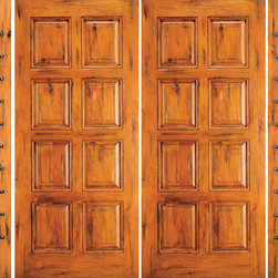 "Knotty Alder Entry Prehung Double Door with Two Sidelites, 8-Panel - SKU#    SW-87-51_2-2Brand    AAWDoor Type    ExteriorManufacturer Collection    Western-Santa Fe Entry DoorsDoor Model    Door Material    WoodWoodgrain    Knotty AlderVeneer    Price    3422.4Door Size Options    2(30"")+2(18"") x 80"" (8'-0"" x 6'-8"")  $02(32"")+2(18"") x 80"" (8'-4"" x 6'-8"")  $02(36"")+2(18"") x 80"" (9'-0"" x 6'-8"")  +$202(42"")+2(18"") x 80"" (10'-0"" x 6'-8"")  +$2002(30"")+2(18"") x 96"" (8'-0"" x 8'-0"")  +$674.42(32"")+2(18"") x 96"" (8'-4"" x 8'-0"")  +$674.42(36"")+2(18"") x 96"" (9'-0"" x 8'-0"")  +$694.42(42"")+2(18"") x 96"" (10'-0"" x 8'-0"")  +$1094.4Core Type    SolidDoor Style    RusticDoor Lite Style    Door Panel Style    8 PanelHome Style Matching    Southwest , Log , Pueblo , WesternDoor Construction    True Stile and RailPrehanging Options    PrehungPrehung Configuration    Double Door with Two SidelitesDoor Thickness (Inches)    1.75Glass Thickness (Inches)    Glass Type    Glass Caming    Glass Features    Glass Style    Glass Texture    Glass Obscurity    Door Features    Door Approvals    Door Finishes    Door Accessories    Weight (lbs)    1190Crating Size    25"" (w)x 108"" (l)x 52"" (h)Lead Time    Slab Doors: 7 daysPrehung:14 daysPrefinished, PreHung:21 daysWarranty    1 Year Limited Manufacturer WarrantyHere you can download warranty PDF document."