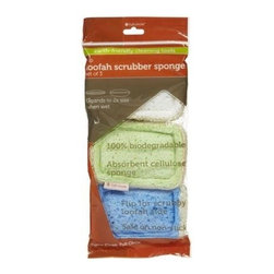 Full Circle Home Flip Loofah Sponge - White - 3 Pack - Cellulose is naturally soft and absorbent