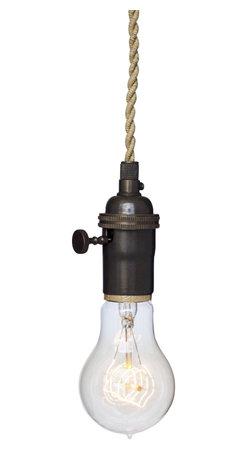Hammers & Heels - Nautical Ship Rope Bare Bulb Pendant Light - THE MINIMALIST BARE BULB PENDANT LIGHT.