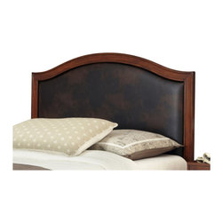 Home Styles - Home Styles Duet Camelback Headboard with Brown Leather Inset-King - Home Styles - Headboards - 5545601A - Create distinctive style with this modern Duet Headboard.