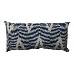 Pillow Perfect - Bali Blue, White Throw Pillow - - Pillow Perfect Bali Navy Bolster Throw Pillow  - Sewn Seam Closure  - Spot Clean Only  - Finish/Color: Blue/White  - Product Width: 23  - Product Depth: 11.5  - Product Height: 5  - Product Weight: 1.5  - Material Textile: 100% Cotton  - Material Fill: 100% Recycled Virgin Polyester Fill  Pillow Perfect - 514765