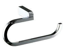 Manillons - Musa Wall Bathroom Towel Ring Holder, Polished Chrome - Mirror, mirror on the wall ... wait, that's not a mirror! It's a polished-chrome towel rack with an impeccable mirror finish. It shines so sleek and beautifully, it'll be hard to refrain from asking it who is the fairest of them all. (Of course, it's your house, so the answer will always be you.)