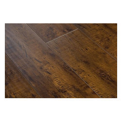 """Lamton - Lamton Laminate - 12mm Exotic Wide Plank Collection - [15.1 sq ft/box] - Kashmir Walnut -    Lamton brings you top-quality, AC3-rated, CARB-ATCM - Phase 1 compliant, HDF-core laminate flooring. This line of exotic laminate floors replicates the appearance of a real hardwood floor with extra wide planks at 6 1/2"""" wide and a handscraped surface.     The unique angle-click locking system makes installation quick and easy. This 12mm laminate is safe to install over radiant heat and comes with a 25 year warranty. Combine these features with an exceptionally low price point, and it is clear that Lamton Laminate is an economical choice that doesn't compromise quality."""