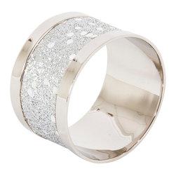 Saro - Sparkling Napkin Ring SET/4 - Sparkling Napkin Ring SET/4