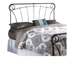 Fashion Bed - Fashion Bed Langford Headboard in Blackened Silver-King size - Fashion Bed - Headboards - B12A36 - Graceful lines and rustic details make this headboard a worthy addition to your decor. Reminiscent of French antique iron gates, the Langford Headboard is the epitome of elegance, style, and class. The Langford Headboard features four spiral C scrolls, delicate castings, and artistically curved spindles to bring a taste of the French countryside into your home. The Langford Headboard is finished in Blackened Silver, and is available in full, queen, and king to accommodate any space.
