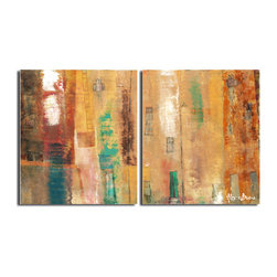 Ready2HangArt - Ready2HangArt Alexis Bueno 'Smash XII' Oversized Canvas 2-piece Wall Art - This abstract canvas art is the perfect addition to any contemporary space. It is fully finished, arriving ready to hang on the wall of your choice.
