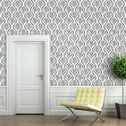 """Distressed Damask Wallpaper 9.5'feet - """"Swag Paper - Empowering the Do-It-Yourselfer:"""